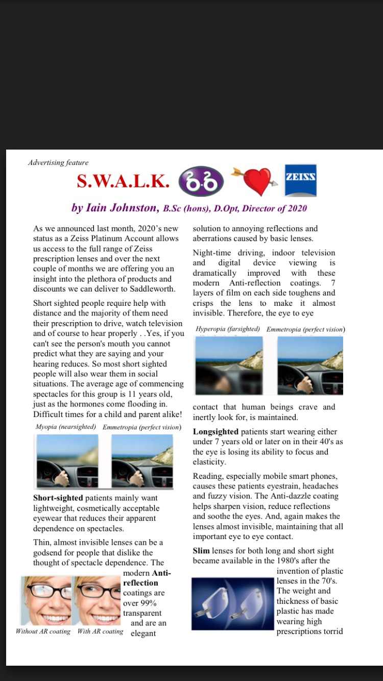 ba3a211c0e7 New article with a print out voucher for money off your lenses look forward  to seeing you soon